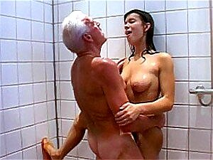 teen and old shower porn